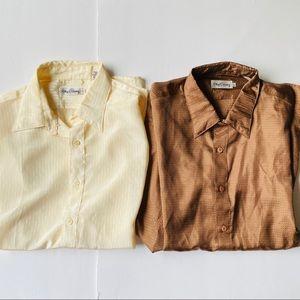 Vintage Oleg Cassini 70s Button Down Shirts Bundle